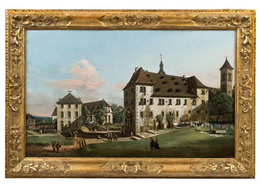 The Courtyard of the Fortress of Königstein with the Magdalenenburg