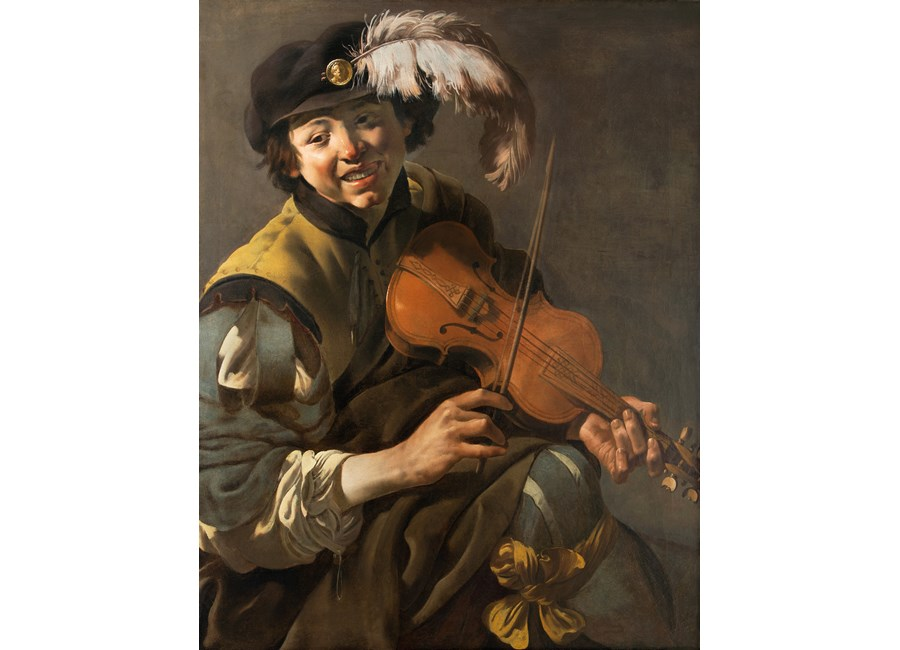 A Youth Playing the Violin