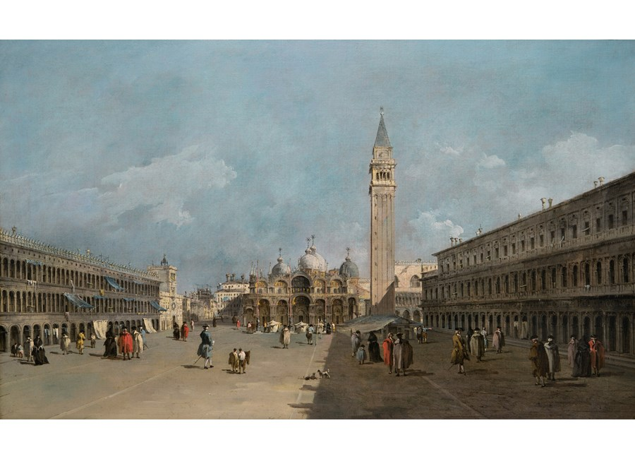 Piazza San Marco in Venice, with the Basilica and Campanile
