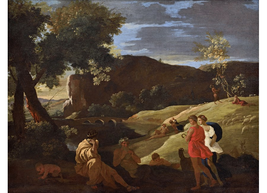 """""""An Arcadian Landscape with stories from the legends of Pan and Bacchus"""""""