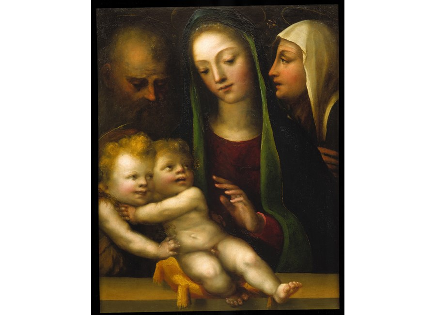 """The Holy Family with the Infant Saint John the Baptist"""