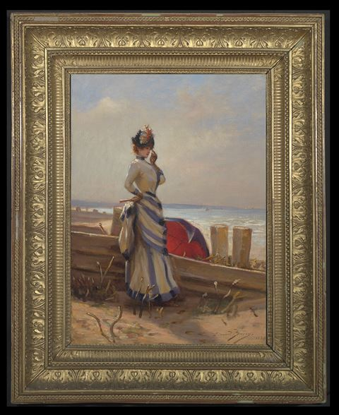 An Elegant Woman by the Sea